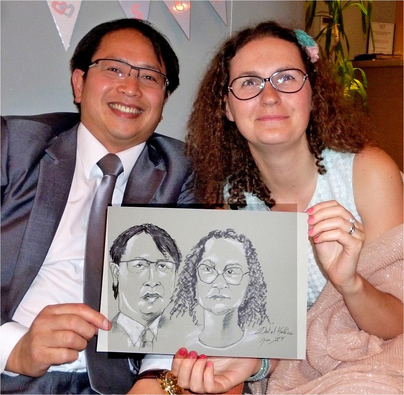 Dat et Hélène caricature de JEF