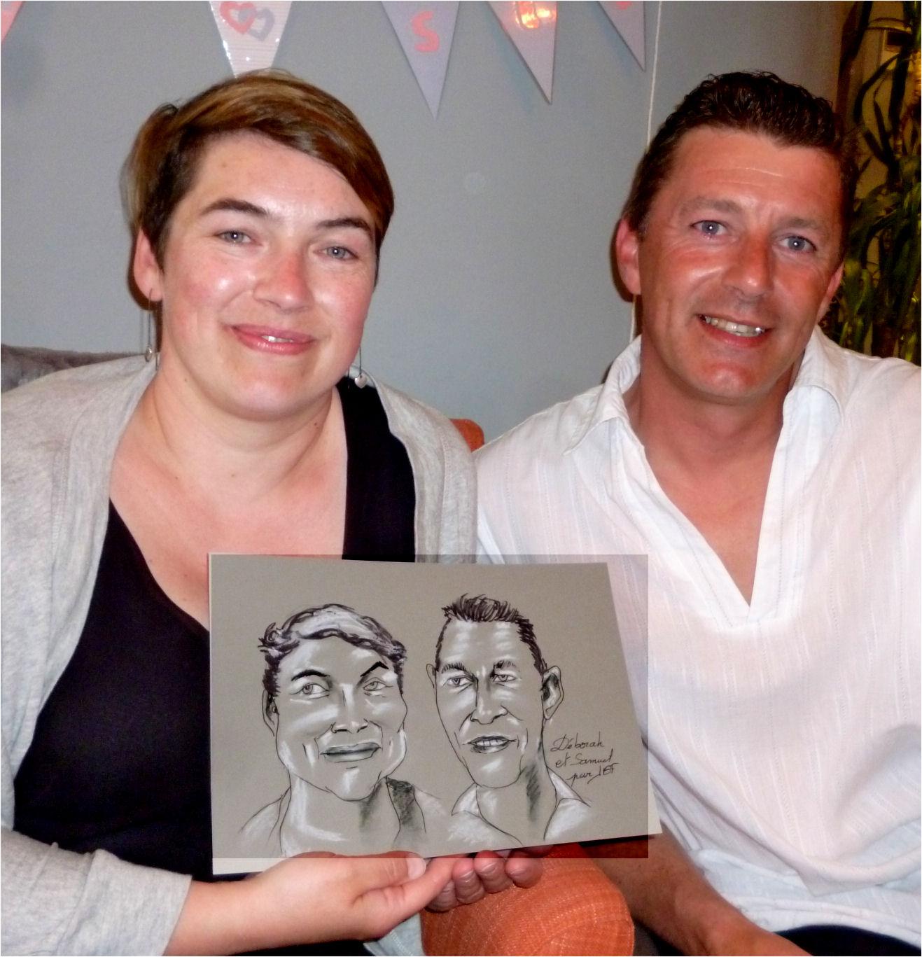 Déborah et Samuel caricature de JEF