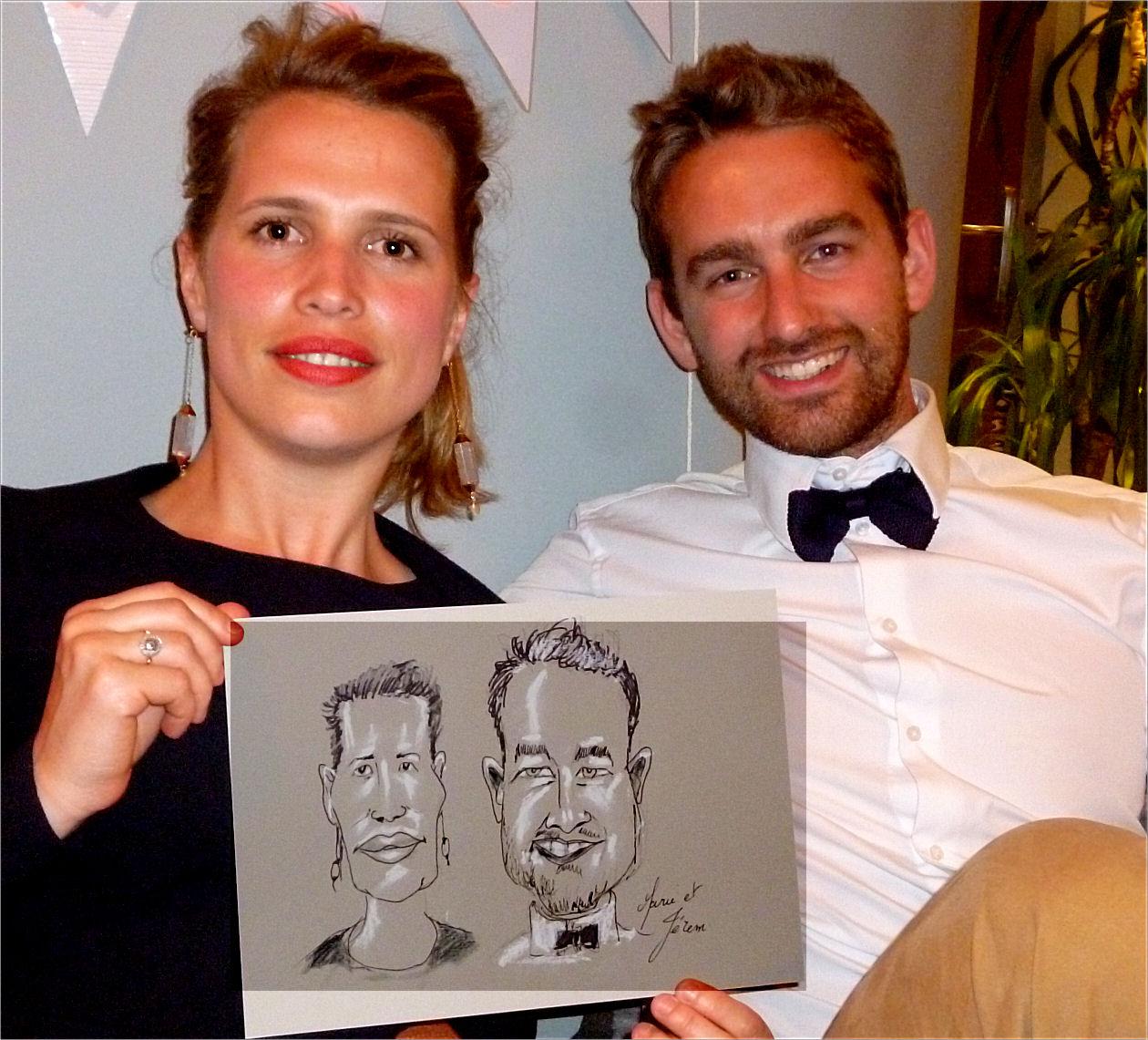 Marie et Jérem caricature de JEF