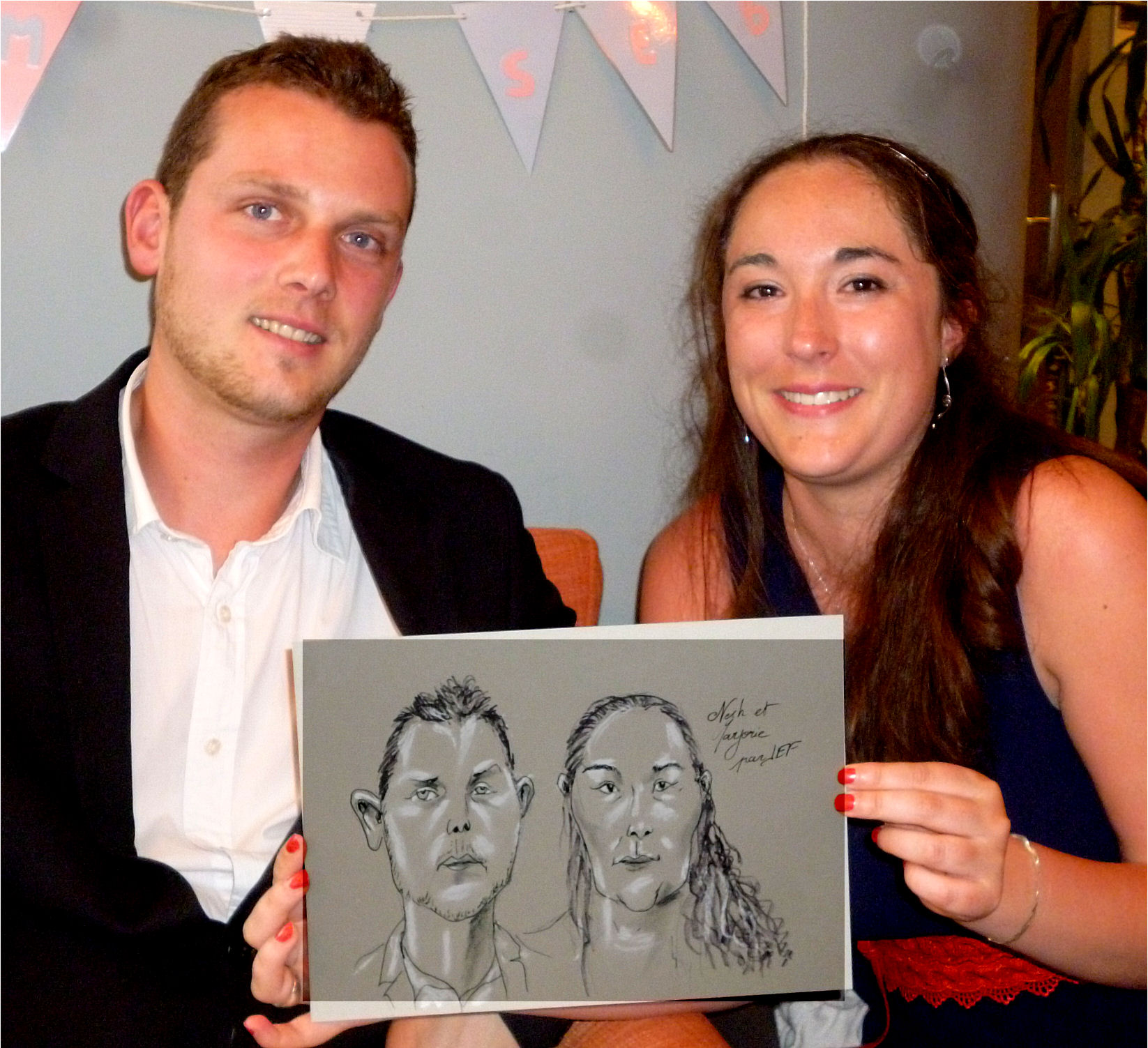 Nesh et Marjorie caricature de JEF