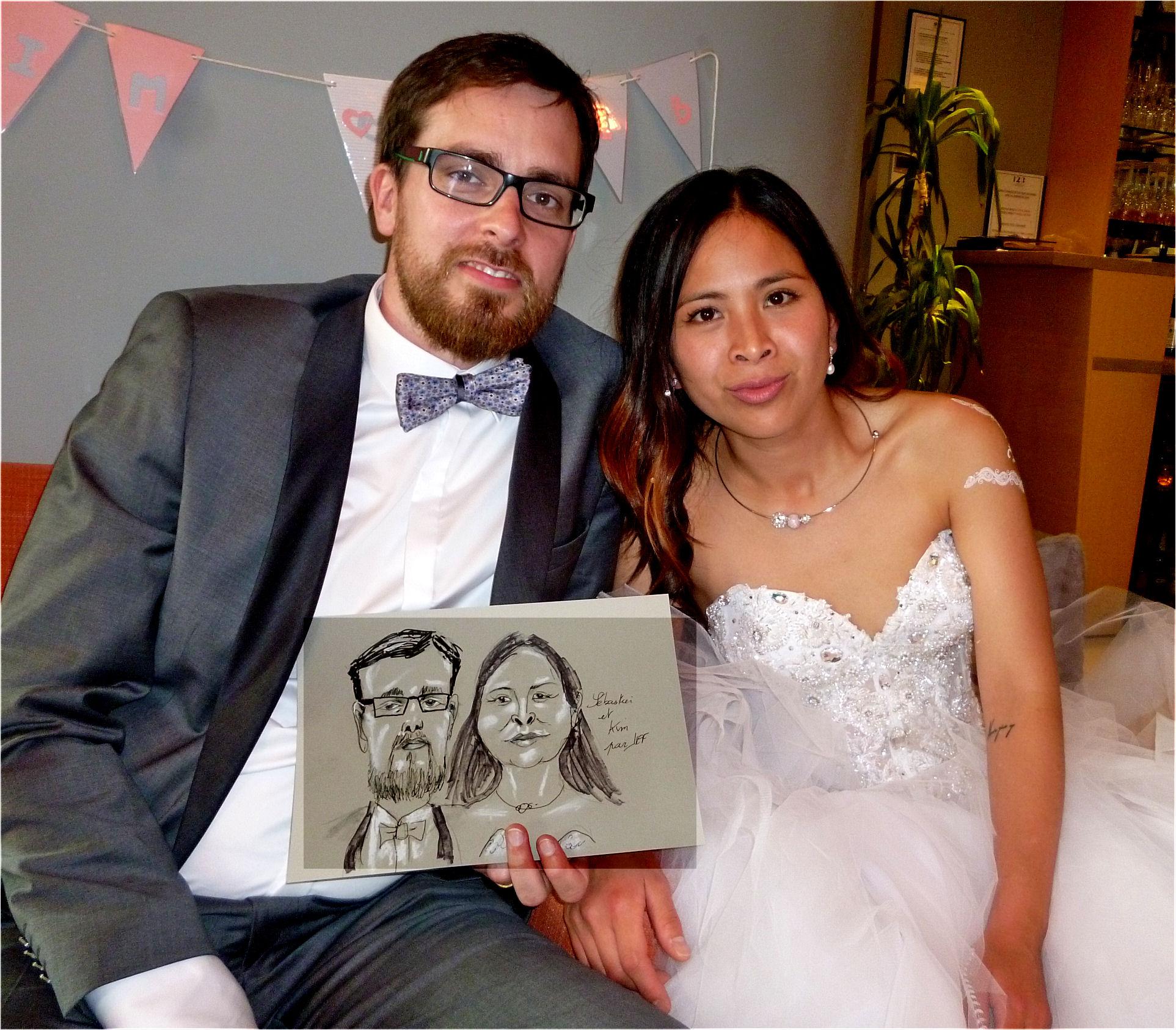 Sébasien et Kim caricature de JEF