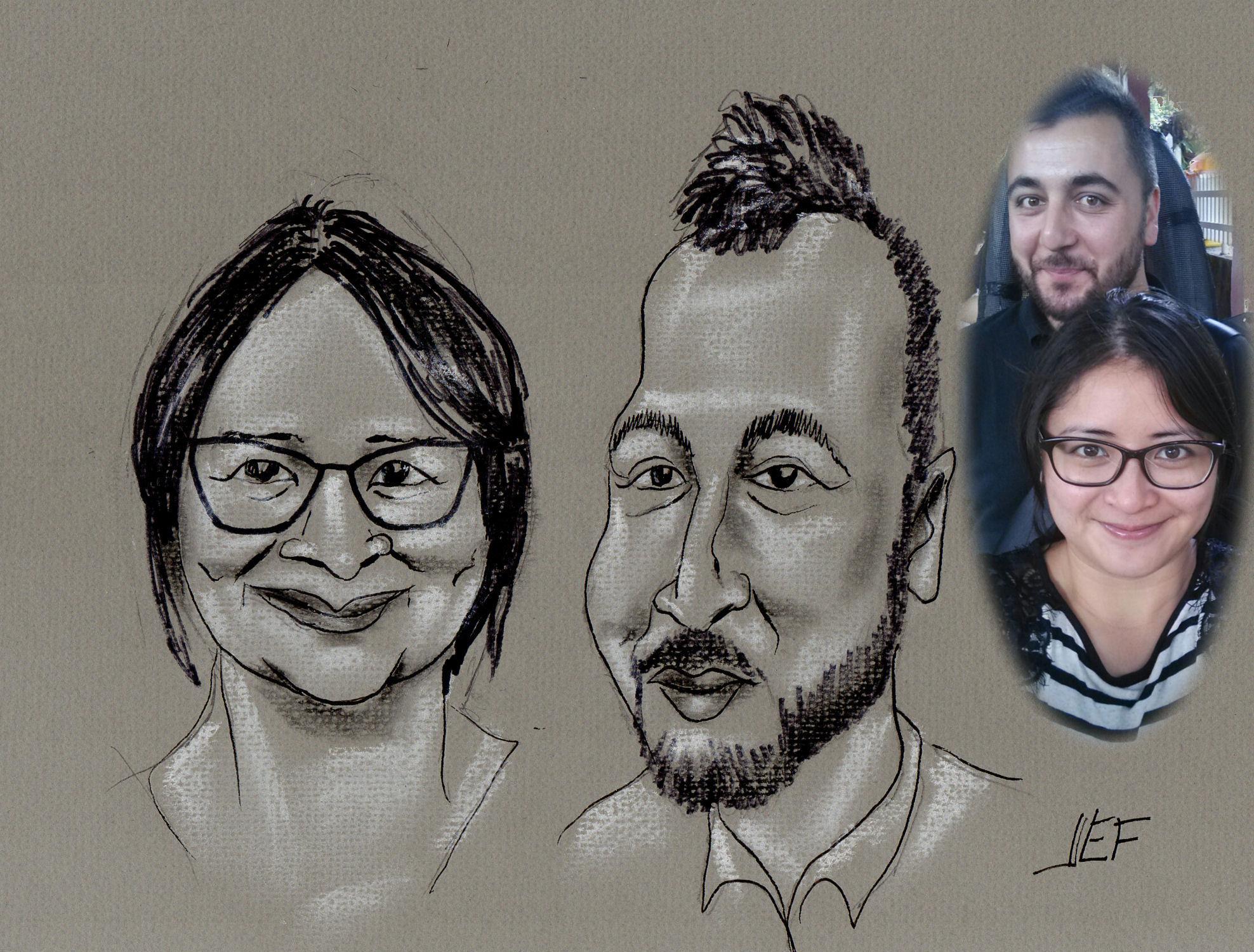 Titi et Baris caricature de JEF