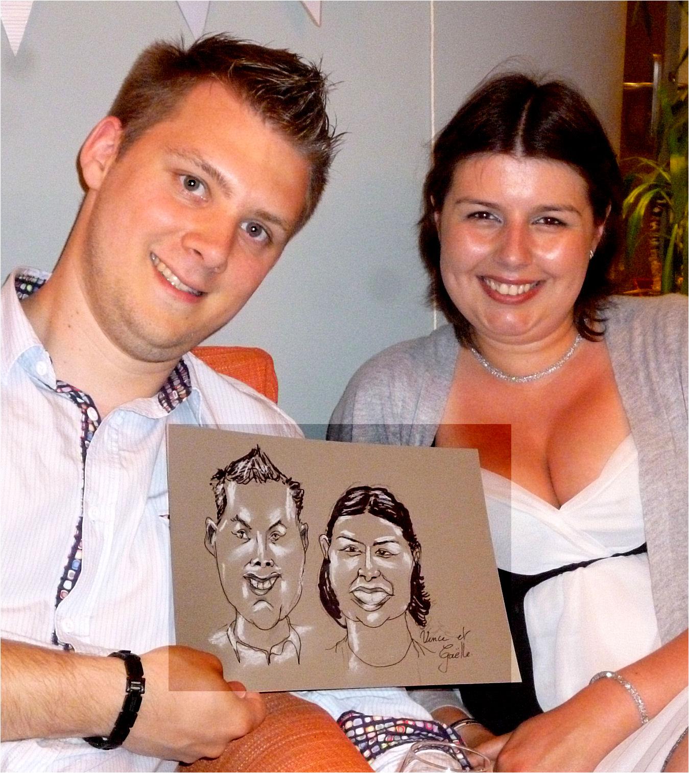 Vince et Gaëlle caricature de JEF
