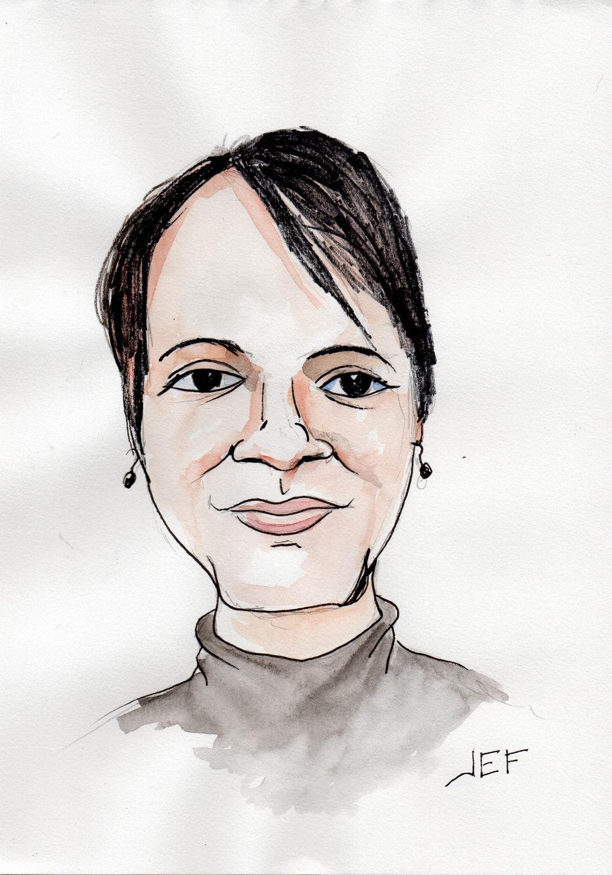 Mathilde caricature par JEF