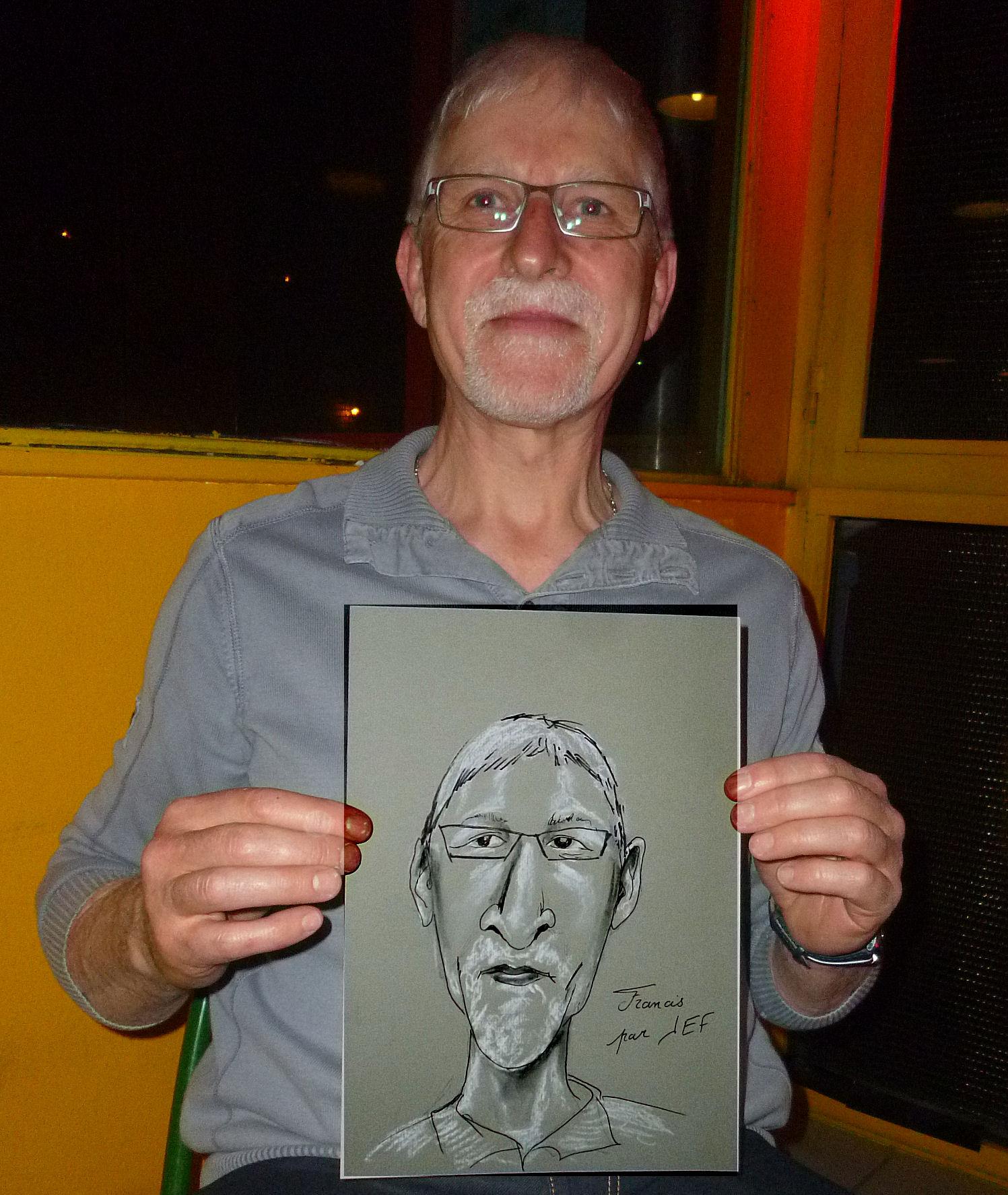 Francis caricature de JEF