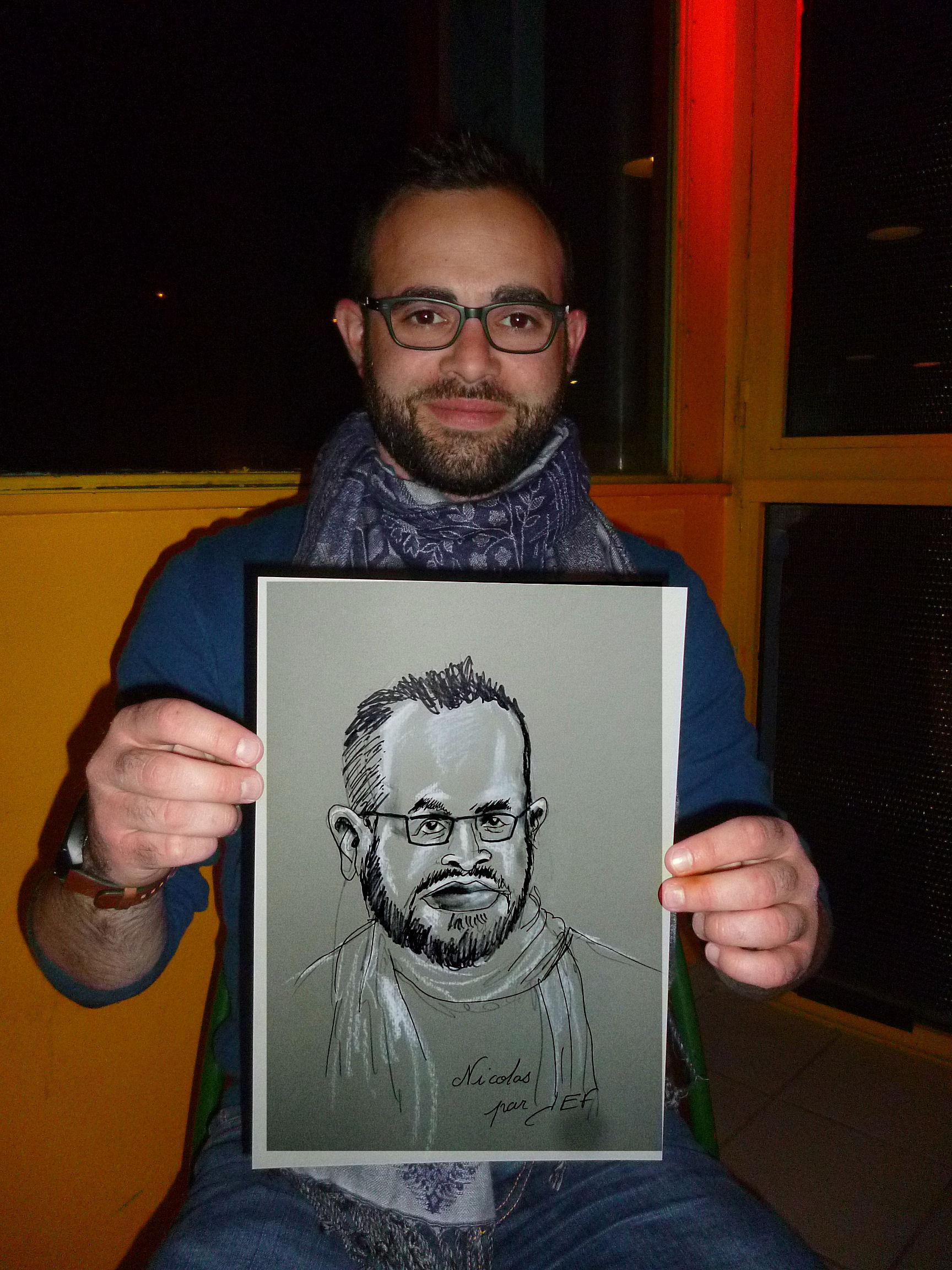Nicolas caricature de JEF