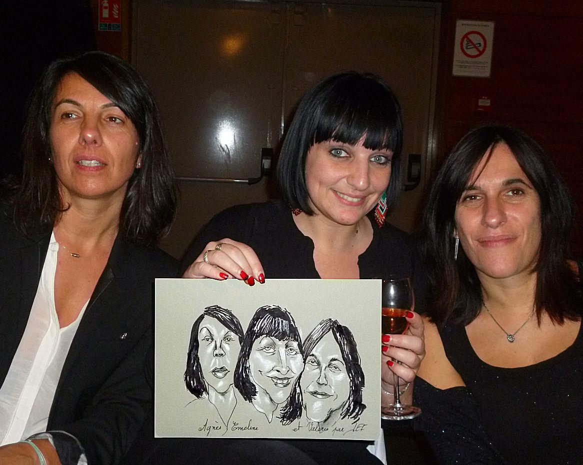 Agnès, Emeline et Valérie caricature par JEF