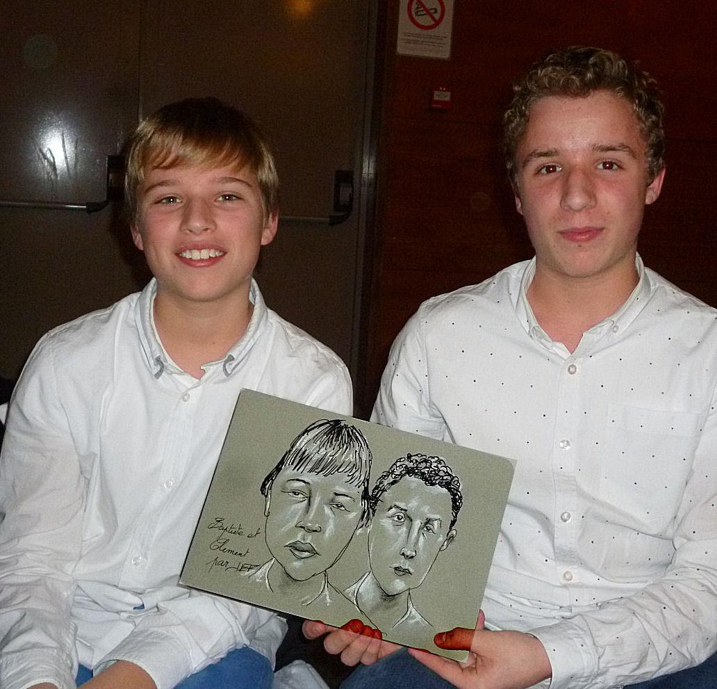 Baptiste et Clément caricature par JEF