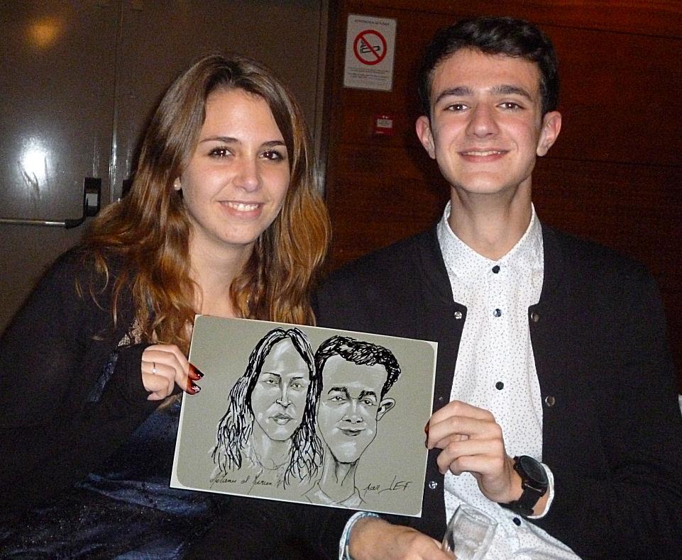 Mélanie et Marien, caricature par JEF